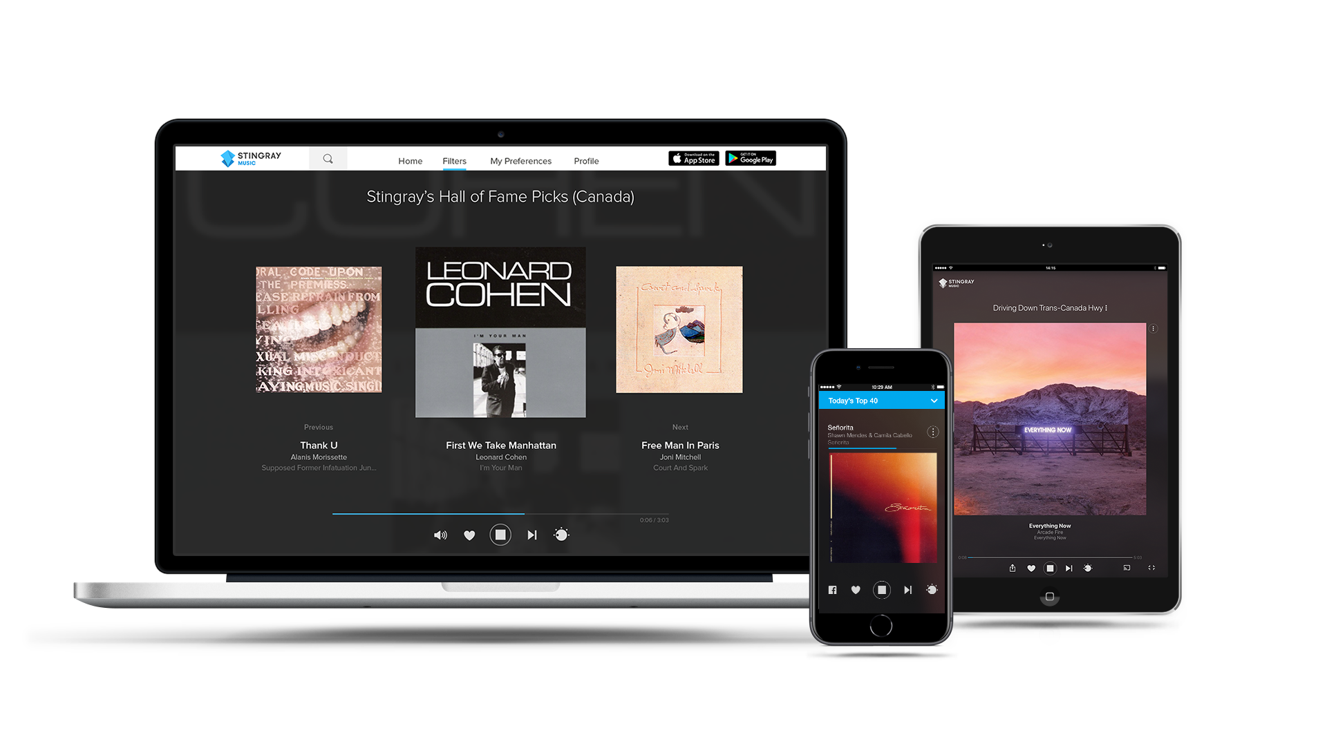 Start streaming music now with the Stingray Music mobile app