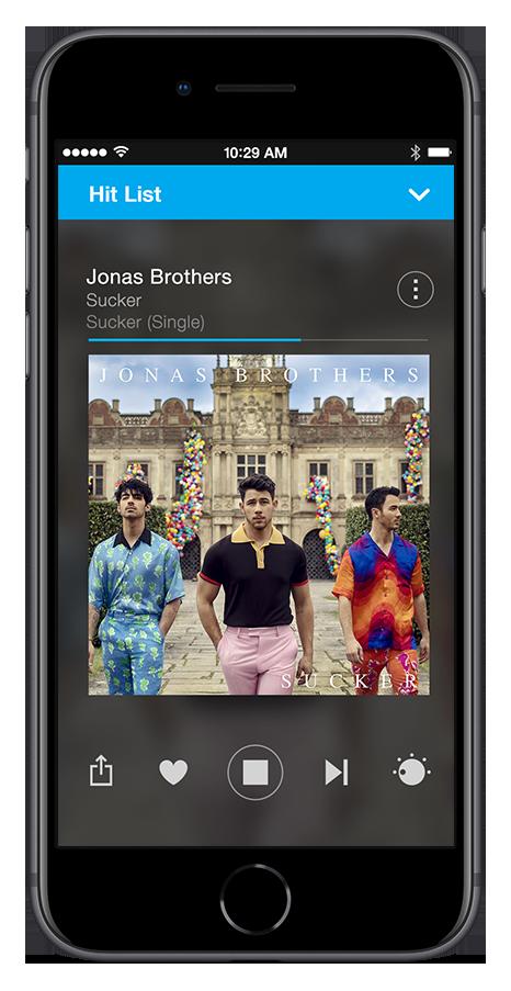 Stingray Music mobile app
